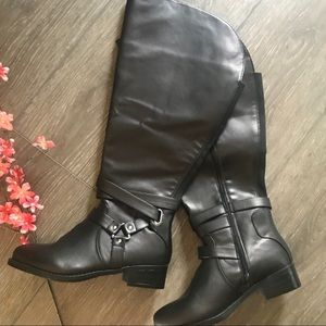 Torrid black tall boots wide calf size 8 1/2 W
